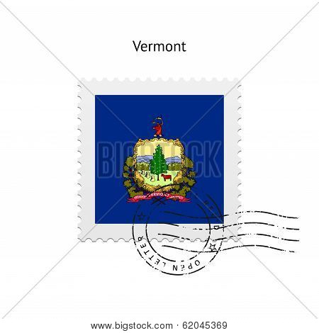 State of Vermont flag postage stamp.