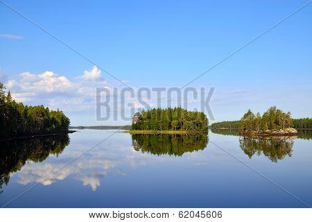 Morning Calm. Lake Engozero, North Karelia, Russia
