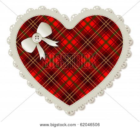 Heart Plaid Patch