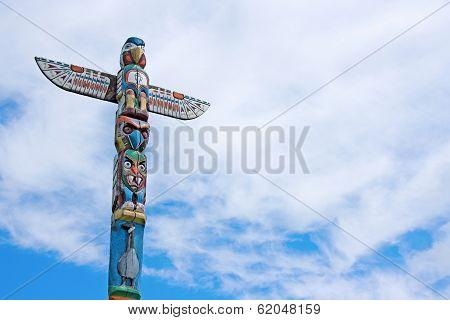 Weathered Totem Pole