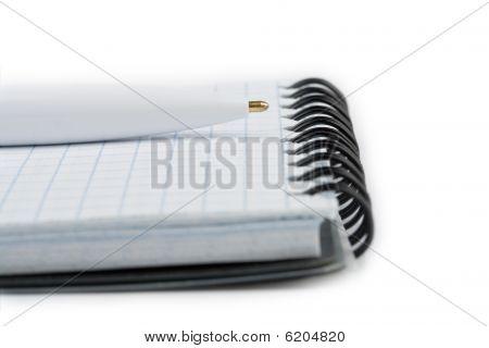 Notebook And Pen Closeup