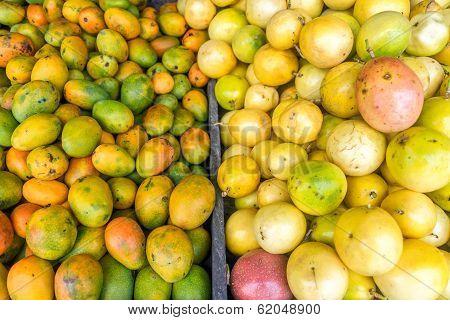 Fresh Fruit At A Market