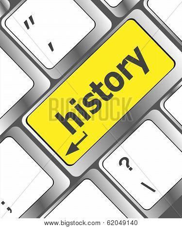 Laptop Keyboard And Key History On It