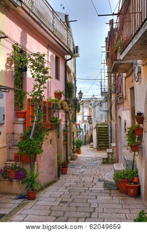 Alleyway. San Giovanni Rotondo. Puglia. Southern Italy.