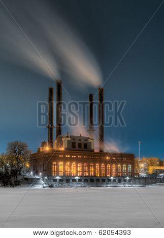 Winter Steam Plant