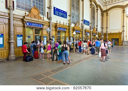 People Buy Tickest In The Famous West Train Station