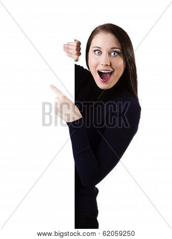Billboard Sign Woman Ecstatic