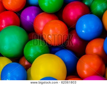 Colored balls at a children's party.