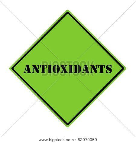 Antioxidants  Sign