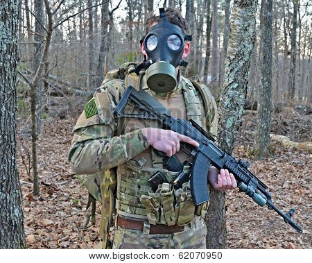 Gas Mask Soldier