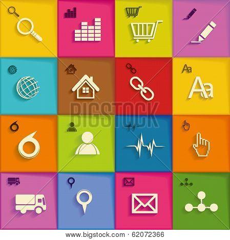 Modern  Infographic  Or Webdesign Symbols