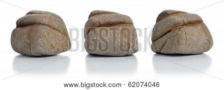 Gray And Brown Stone Isolated.
