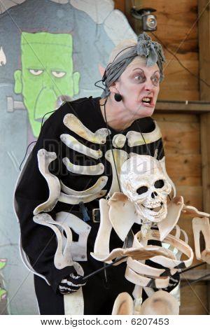Actress at Halloween Festival