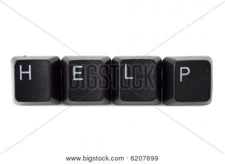 Help Spelled On Keyboard Black