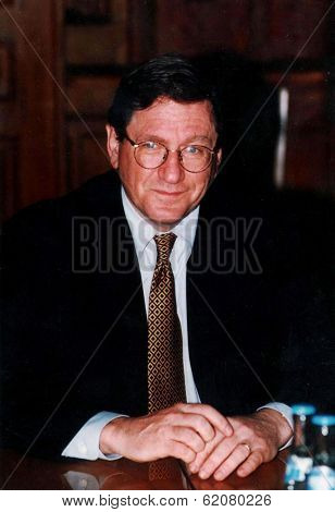 BUDAPEST, HUNGARY - MARCH 12: United States Special Envoy Richard Holbrooke.  Holbrooke is the architect of the Dayton Peace Agreement, which ended the war in Bosnia in 1995 on Mar 12, 1997 in Budapest, Hungary.