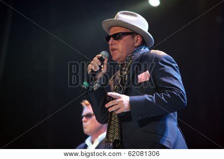 BUDAPEST, HUNGARY - AUG 15: British pop/ska band Madness perform in concert at the annual Sziget festival on Sunday, August 15, 2010 in Budapest, Hungary