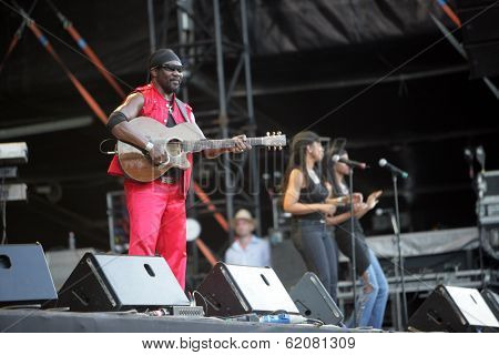 BUDAPEST, HUNGARY - AUG 10: The Wailers Band plays at the annual Sziget festival on Tuesday, August 10, 2010 in Budapest, Hungary. The Wailers includes Elan Atias on lead vocals