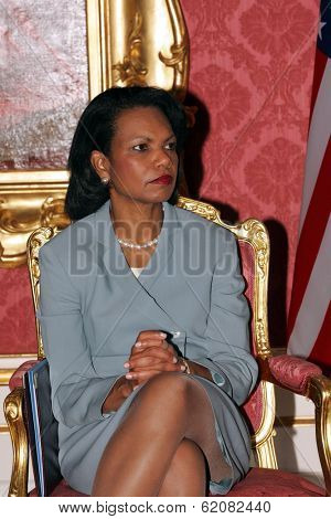 BUDAPEST, HUNGARY - JUNE 22: United States Secretary of State Condoleezza Rice in Budapest, Hungary, on Thursday, June 22, 2006.