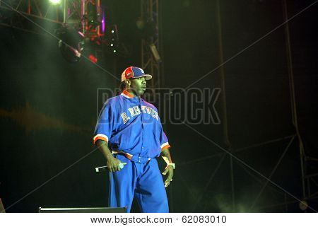 BUDAPEST, HUNGARY, 05 AUGUST 2004 - Rapper Busta Rhymes perform at the annual Sziget music festival in Budapest.