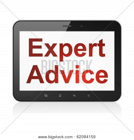 Law concept: Expert Advice on tablet pc computer