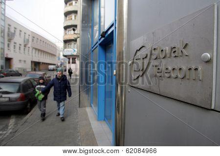 BRATISLAVA - FEBRUARY 1: The headquarters of Slovak Telecom in Bratislava, Slovakia, on Wednesday, February 1, 2006.