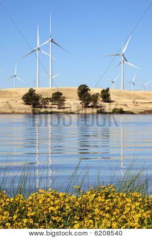 Moinhos de vento de geração de energia