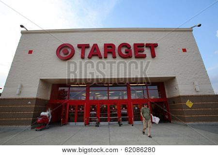 HACKENSACK - JULY 11: Shoppers walk past a Target department store in Hackensack, New Jersey on Thursday, July 11, 2013.  The Target Corporation is an American retailing company,