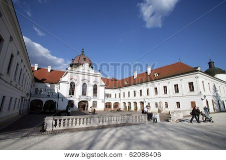 GODOLLO - APRIL 4: The Royal Palace in Godollo, Hungary, on Thursday, April 4, 2013. The palace was the favorite summer home of Habsburg princess Elizabeth and her husband, Franz Joseph.