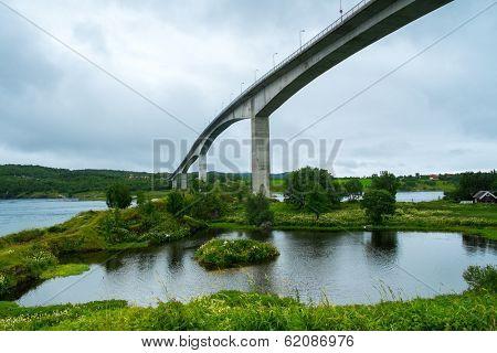 Saltstraumen Bridge on Norwegian County Road  near Bodo