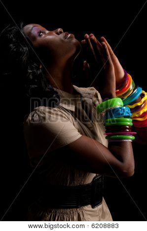 Woman Praying Profile