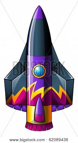 Illustration of a colorful rocket on a white background