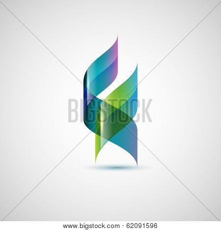 Abstract shape, ribbons, eps10 vector