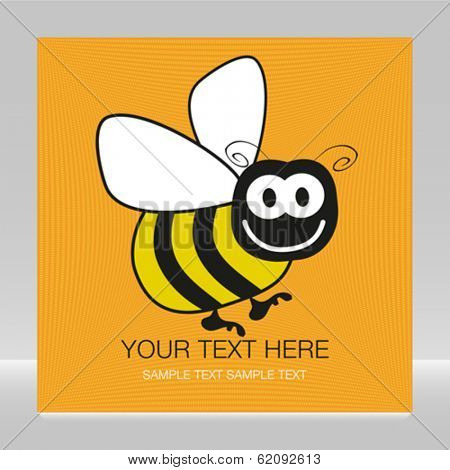 Bumble bee design with copy space.