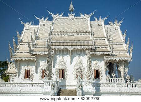 Famous Wat Rong Khun (White temple) in Chiang Rai province, Northern Thailand