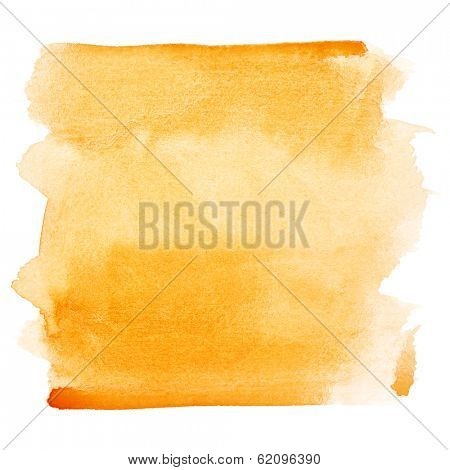 Orange watercolor brush strokes - space for your own text