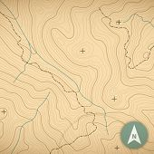 stock photo of landforms  - Topographic map background concept with space for your copy - JPG
