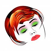 picture of pouting  - Make up and hair graphic - JPG