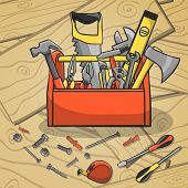 Working toolbox and instruments kit