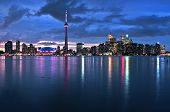 pic of urbanisation  - Scenic view at Toronto city waterfront skyline at night - JPG