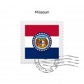 State of Missouri flag postage stamp.