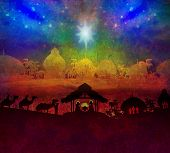 stock photo of nativity scene  - Biblical scene  - JPG