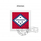 State of Arkansas flag postage stamp.