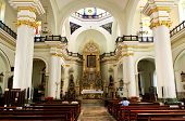 stock photo of guadalupe  - Our Lady of Guadalupe church interior in Puerto Vallarta - JPG