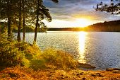 picture of shimmer  - Sunset over Lake of Two Rivers in Algonquin Park - JPG