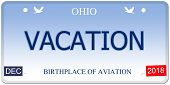 Vacation Ohio Imitation License Plate