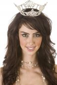 picture of pageant  - Head and shoulders photo of pageant winner isolated on white background - JPG