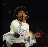 WASHINGTON, D.C. - AUG 4: The Rolling Stones in concert at RFK stadium during the Voodoo Lounge Tour