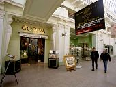 MOSCOW - APRIL 16:  Russians now enjoy a new level of luxury shopping in stylish new arcades like Mo