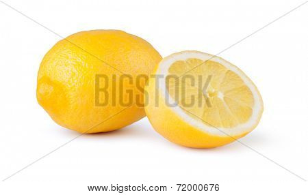 lemon fruit on a white background