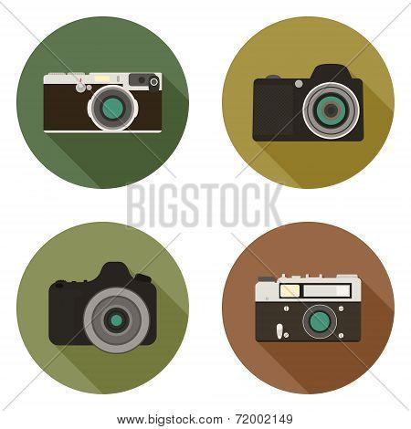 Modern Flat Camera Icons